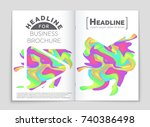 abstract vector layout... | Shutterstock .eps vector #740386498