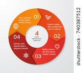 circle arrows for infographics. ... | Shutterstock .eps vector #740387512