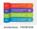 steps infographics banners with ... | Shutterstock .eps vector #740387638