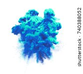 paint powder or blue color... | Shutterstock . vector #740388052