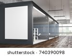 side view of modern office... | Shutterstock . vector #740390098