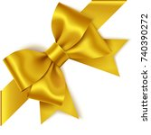 decorative golden bow with... | Shutterstock .eps vector #740390272