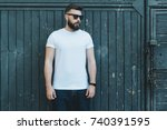 summer day. front view. young... | Shutterstock . vector #740391595