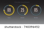design of countdown timer for... | Shutterstock .eps vector #740396452