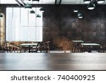 modern cafe interior with... | Shutterstock . vector #740400925