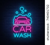 car wash logo vector design in... | Shutterstock .eps vector #740401732