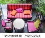 top view of four furniture for... | Shutterstock . vector #740406436