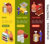 equipment and beer production... | Shutterstock .eps vector #740407996