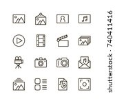 gallery icon set. collection of ...