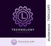 technology initial letter l...   Shutterstock .eps vector #740411695
