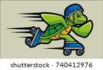 vector illustration of roller... | Shutterstock .eps vector #740412976