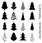 vector collection of christmas... | Shutterstock .eps vector #740414272