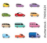 different types of cars icons   ... | Shutterstock .eps vector #74041624