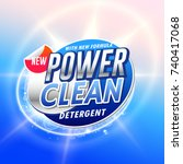 creative laundry detergent... | Shutterstock .eps vector #740417068