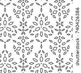 vector illustration of seamless ... | Shutterstock .eps vector #740426386