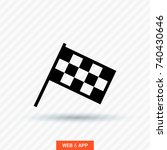 competition sport flag line... | Shutterstock .eps vector #740430646