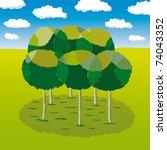group of trees | Shutterstock .eps vector #74043352