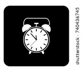 vector icon alarm clock. vector ... | Shutterstock .eps vector #740436745