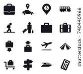 16 vector icon set   portfolio  ...   Shutterstock .eps vector #740440966