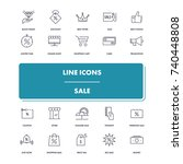 line icons set. sale pack....