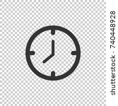 clock icon. clock vector icon.... | Shutterstock .eps vector #740448928
