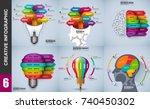 infographic elements data... | Shutterstock .eps vector #740450302