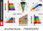 education infographic elements... | Shutterstock .eps vector #740450392