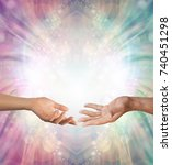 male and female energy merging  ... | Shutterstock . vector #740451298