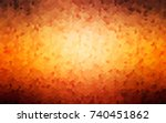 dark orange vector illustration ... | Shutterstock .eps vector #740451862