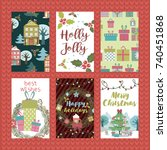 set of christmas planner and... | Shutterstock .eps vector #740451868