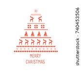 christmas  holiday  winter... | Shutterstock .eps vector #740453506