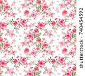 watercolor seamless pattern of... | Shutterstock . vector #740454592