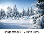 Small photo of Scenic image of spruces tree. Frosty day, calm wintry scene. Location Carpathian, Ukraine Europe. Ski resort. Great picture of wild area. Explore the beauty of earth. Tourism concept. Happy New Year!