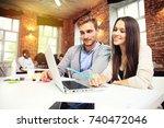 startup diversity teamwork... | Shutterstock . vector #740472046