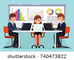 group of people  coworkers... | Shutterstock .eps vector #740473822