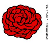 red rose isolated on white... | Shutterstock .eps vector #740476756