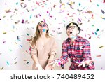 Small photo of Asian People Having Fun in Celebrate Party - Surprise and Excite Emotion for Stock Photo