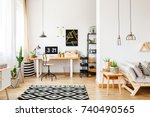 black and white geometric... | Shutterstock . vector #740490565