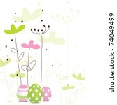 easter card with copy space | Shutterstock .eps vector #74049499