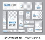 design of vector white banners... | Shutterstock .eps vector #740495446