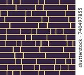 seamless texture of a brick... | Shutterstock . vector #740497855