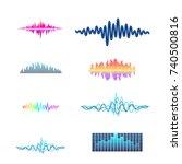 vector digital music equalizer... | Shutterstock .eps vector #740500816