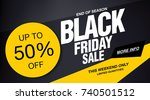 black friday sale banner layout ... | Shutterstock .eps vector #740501512