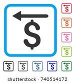 moneyback icon. flat gray...