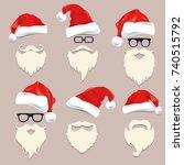 christmas card design 23. | Shutterstock .eps vector #740515792