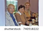 smiling grandparents with...   Shutterstock . vector #740518222