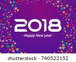 2018 new year celebration... | Shutterstock .eps vector #740522152