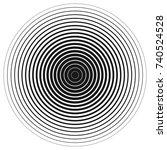 halftone circle texture.... | Shutterstock .eps vector #740524528
