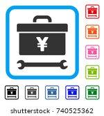 yen toolbox icon. flat grey...