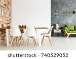 contemporary interior design of ... | Shutterstock . vector #740529052